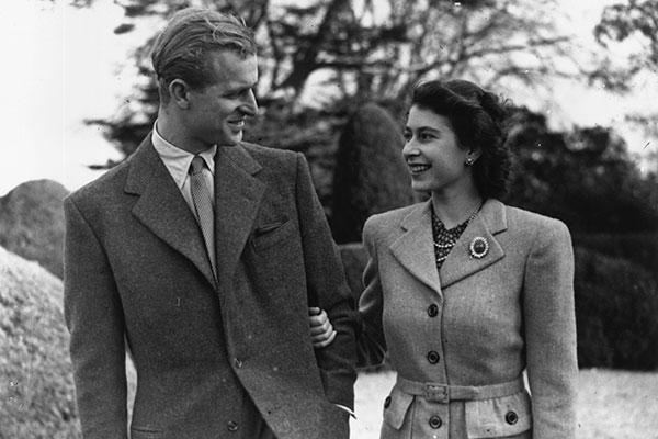 Isabel y Felipe en su luna de miel, en noviembre de 1947.
