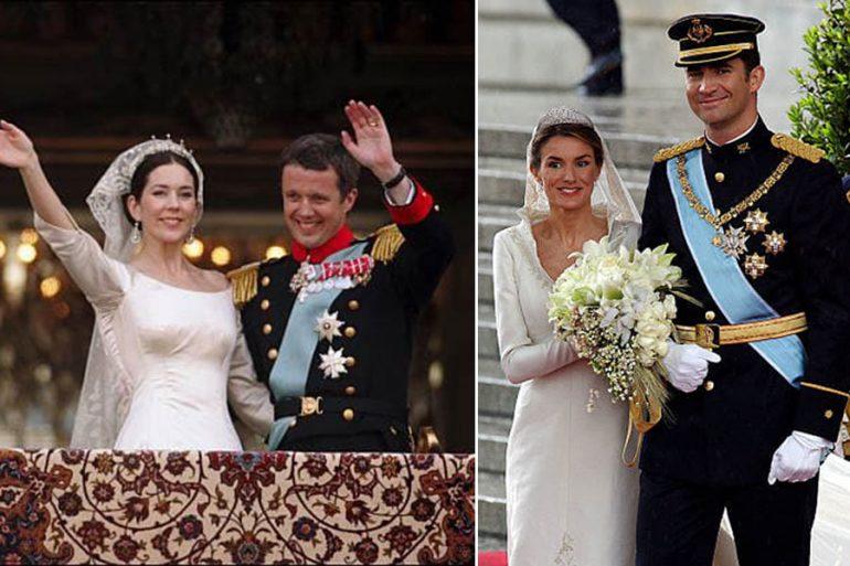 Boda de Mary y Federico de Dinamarca y Letizia y Felipe de España