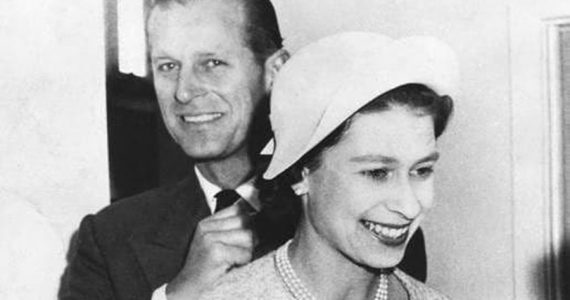 Duque de Edimburgo y reina Isabel