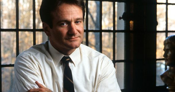 "Robin Williams en ""Dead Poets Society"""