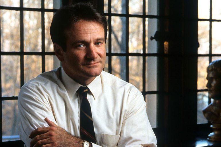 "Robin Williams en ""Dead Poets Society"""