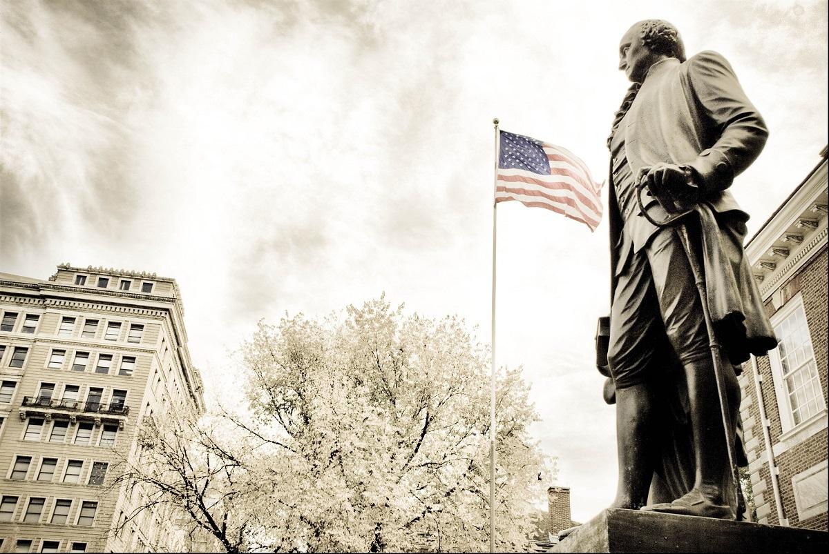 George Washington bandera EUA Norteamerica