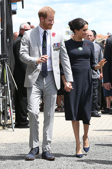Harry y Meghan en Rotorua