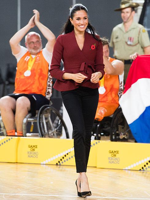 Meghan Markle en la final de los Invictus Games en Sídney