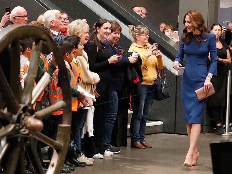 Kate en el Museo Imperial de la Guerra en Londres