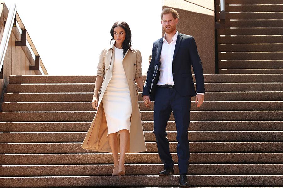 Meghan y Harry en Australia