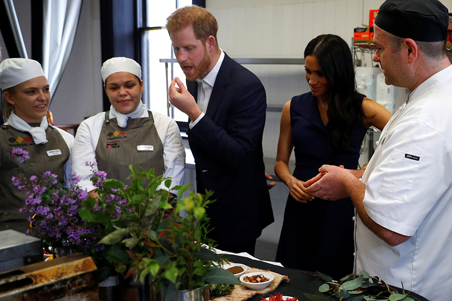 Meghan y Harry en Melbourne