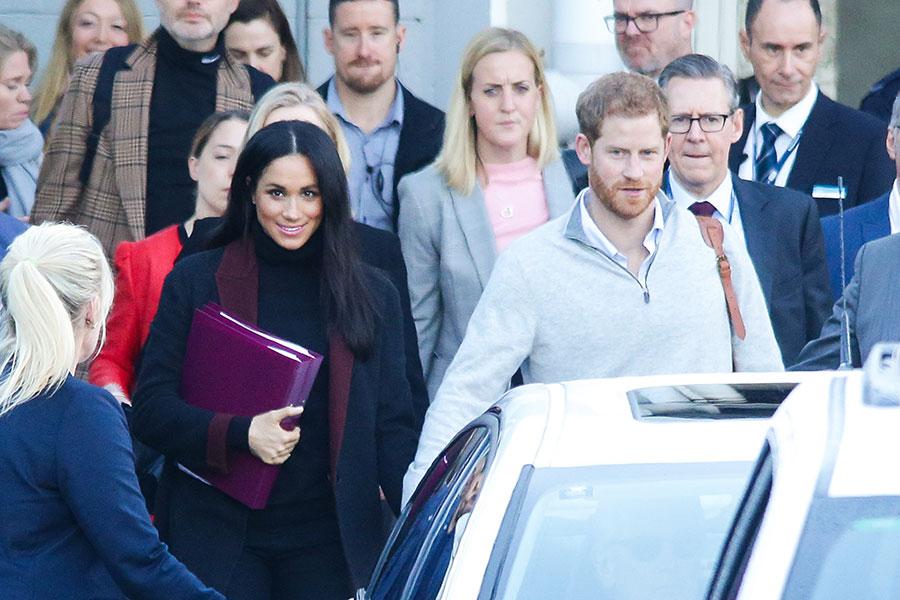 Meghan y Harry llegando a Sídney