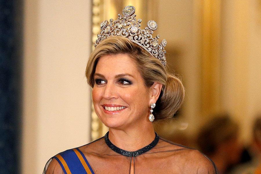 Máxima de Holanda con la tiara Stuart