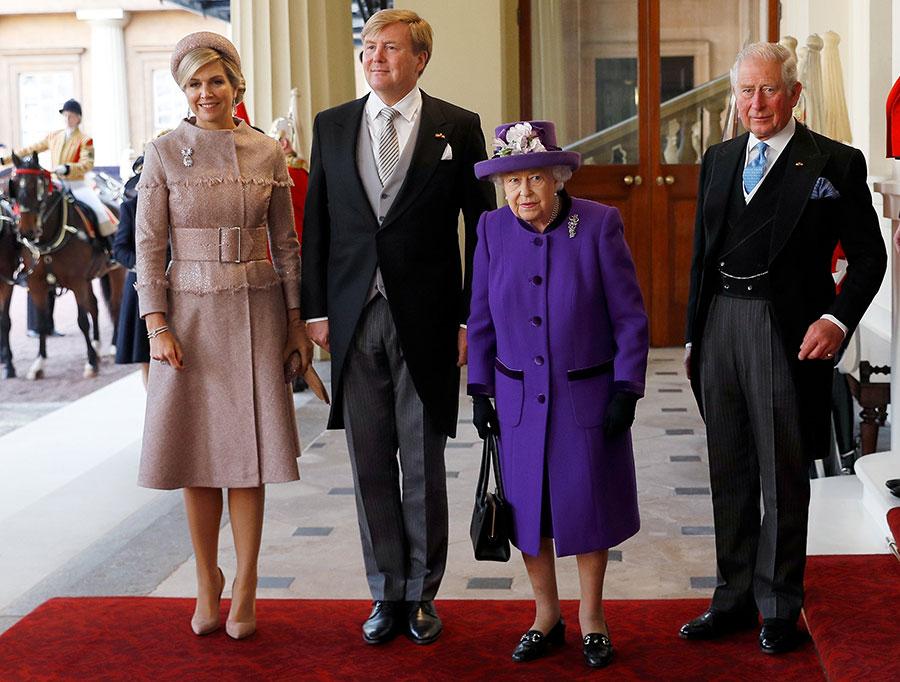 Reyes de Holanda, reina Isabel y príncipe Carlos