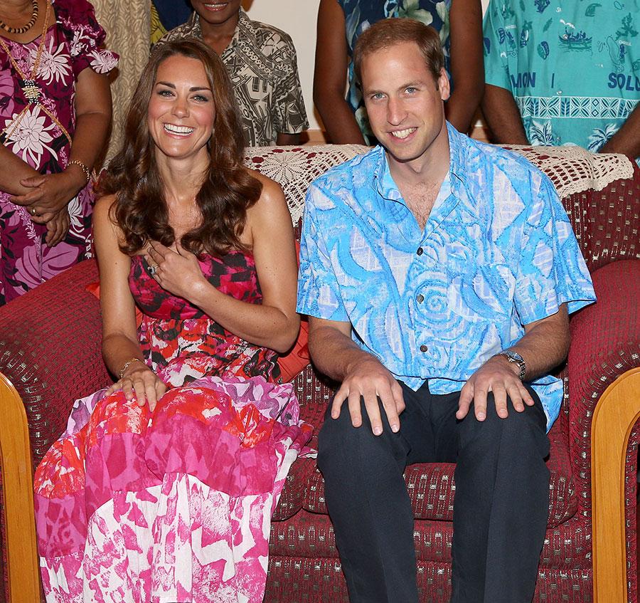 Kate y William en las Islas Salomón en 2012