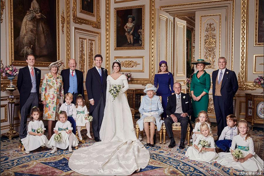 Foto oficial de la boda de la princesa Eugenia de York y Jack Brooksbank