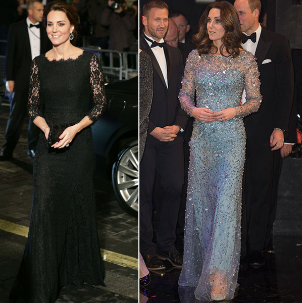 Kate en la en la Royal Variety Performance