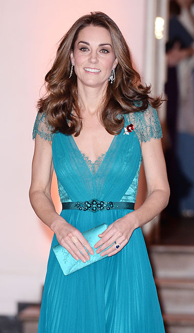 Kate con vestido de Jenny Packham