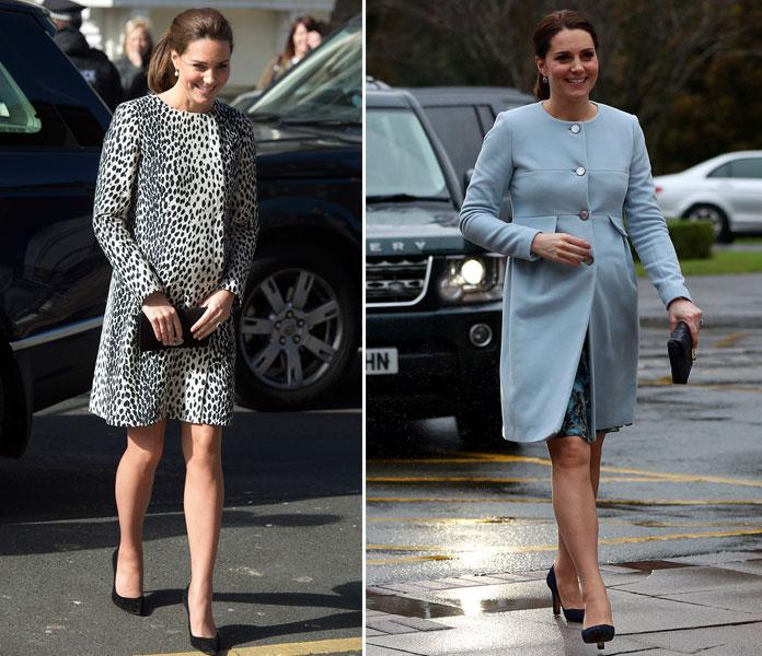 Kate embarazada con vestidos más cortos