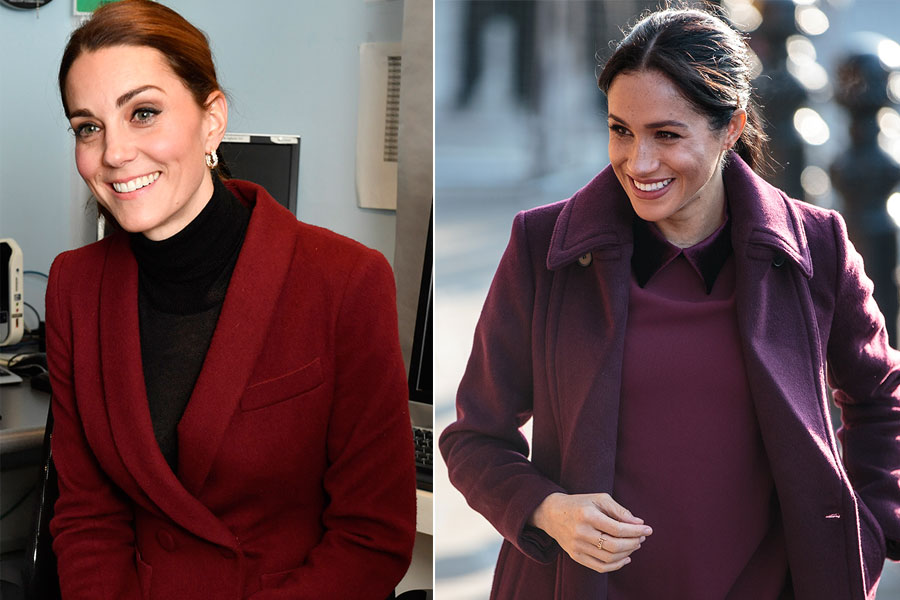 Kate y Meghan visten de rojo