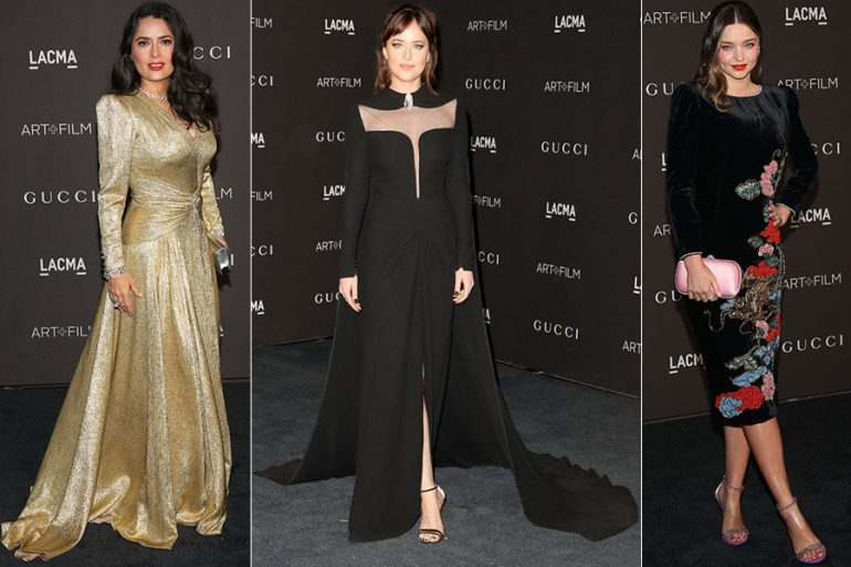 Salma Hayek, Dakota Johnson y Miranda Kerr en Los Angeles County Museum of Art
