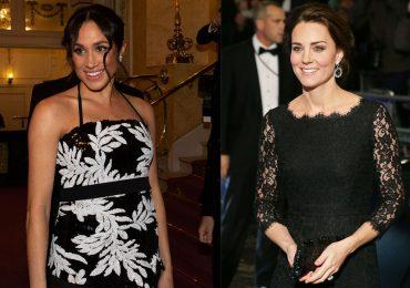 Meghan y Kate en la Royal Variety Performance