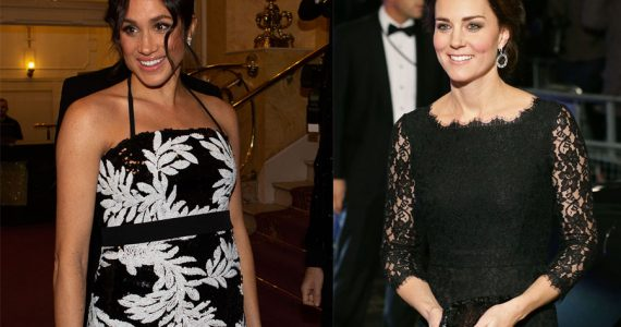 Meghan y Kate en la Royal Variety Performance