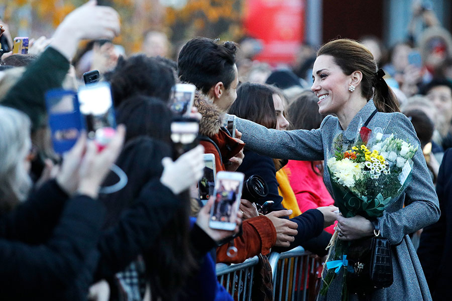 William y Kate en Leicester