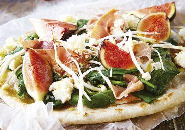 Pizza de higos con prosciutto