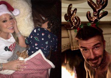 Mariah Carey y David Beckham en Navidad