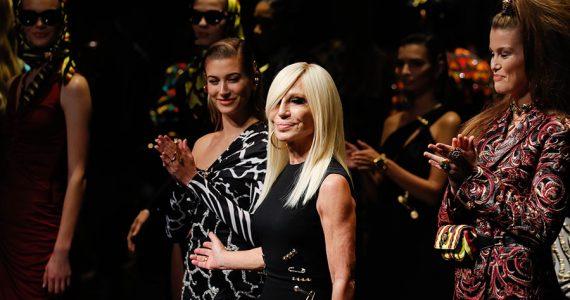 primer desfile de Donatella Versace en NY