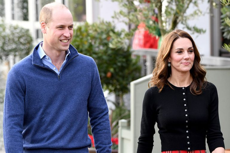 William y Kate con look navideño en el palacio de Kensigton