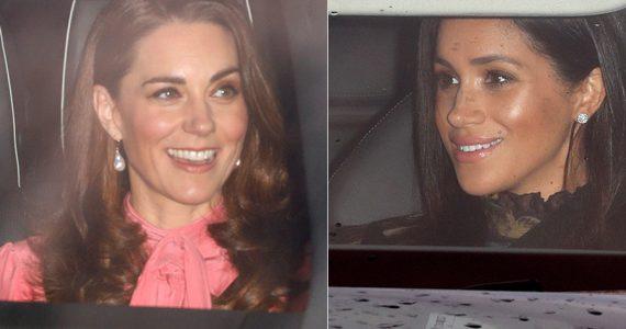 Kate Middleton y Meghan Markle en cena navideña