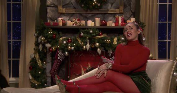 Miley Cyrus en el programa de Jimmy Fallon