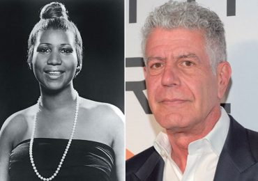 Aretha Franklin y Anthony Bourdain