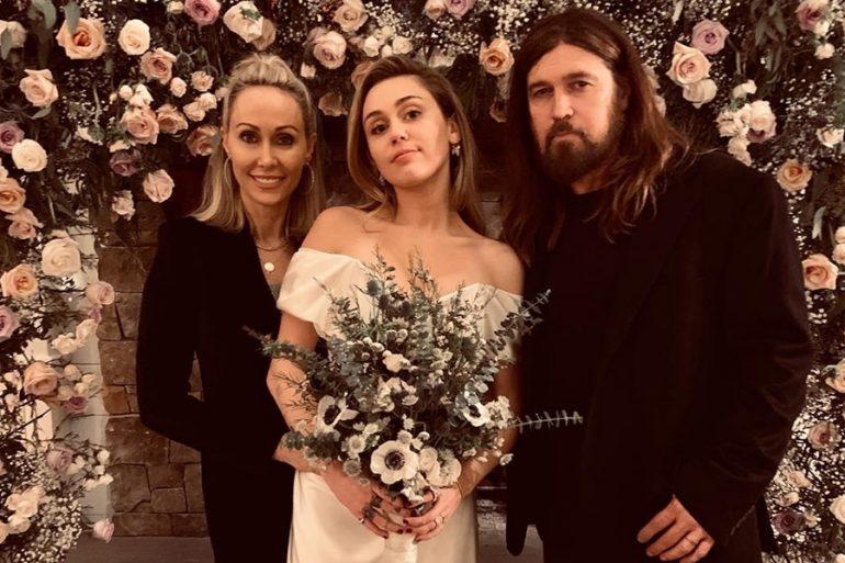 Vestido de novia de Miley Cyrus