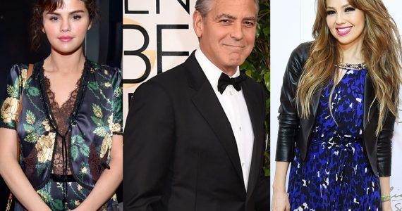 Selena Góme, George Clooney y Thalía