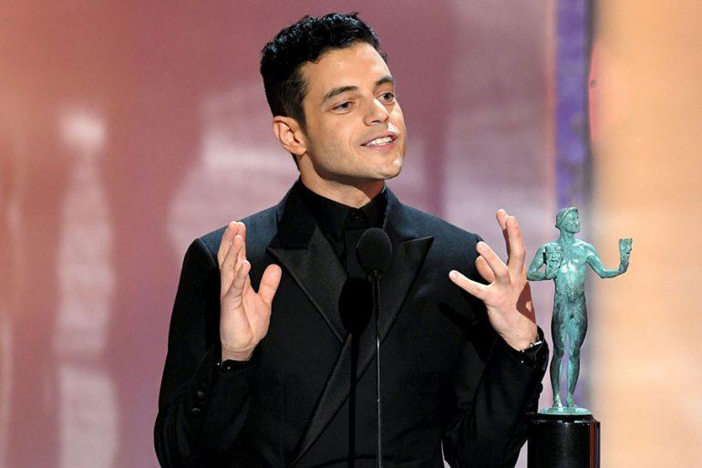 Rami Malek en los Sag Awards