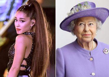 Ariana Grande y reina Isabel