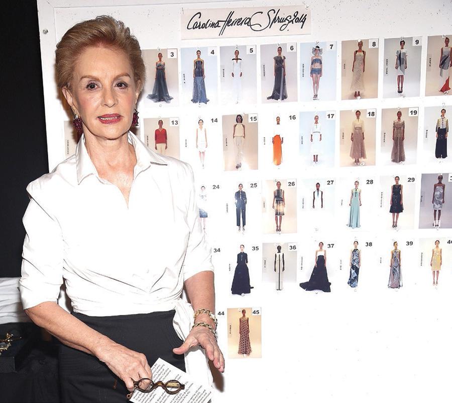 Carolina en la Semana de la Moda de Nueva York en 2014.