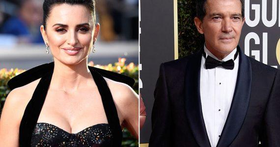 Penélope Cruz y Antonio Banderas en los Golden Globes