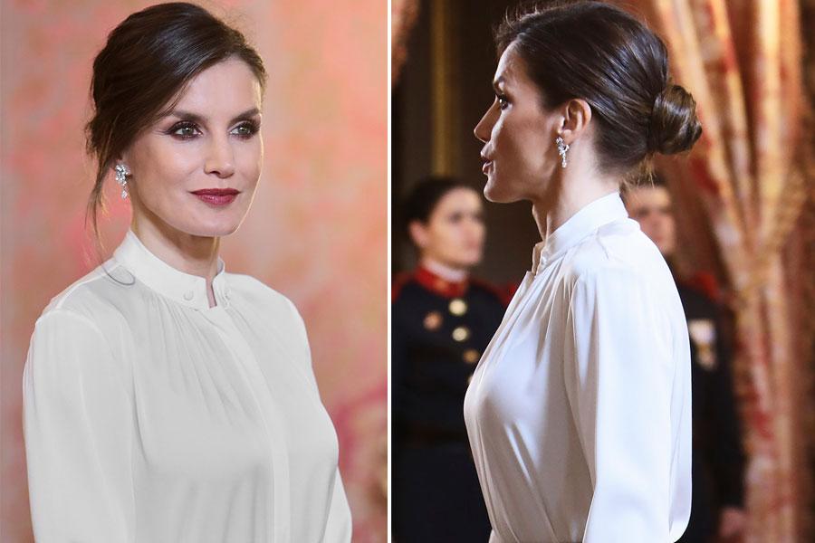 Reina Letizia en recepción con cuerpo diplomático