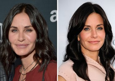 Courteney Cox después y antes