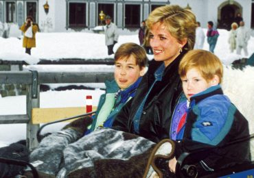 Diana con William y Harry