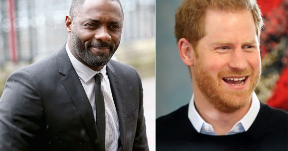 Idris Elba y príncipe Harry