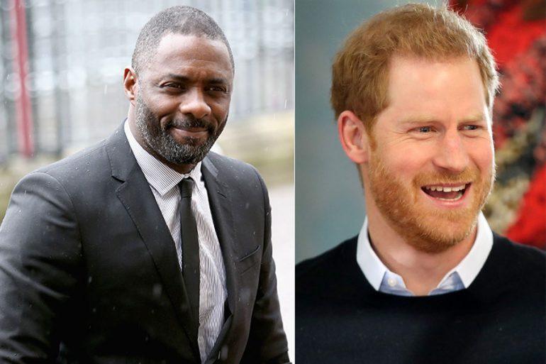 Idris Elba y príncipe Harry