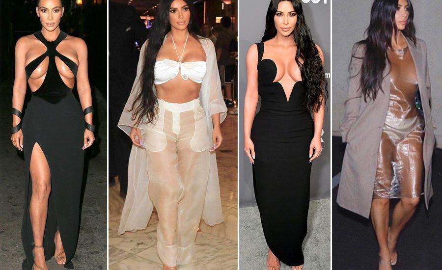 Looks arriesgados de Kim Kardashian.