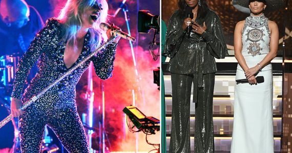 Lady Gaga y Michele Obama en los Grammy