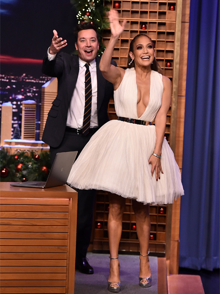 Jennifer Lopez y Jimmy Fallon