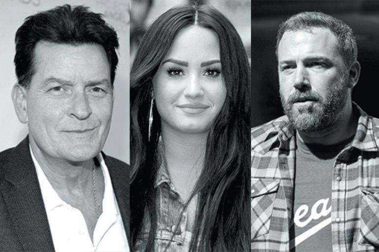Charlie Sheen, Demi Lovato y Ben Affleck contra el alcohol