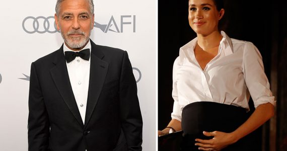 George Clooney y Meghan Markle