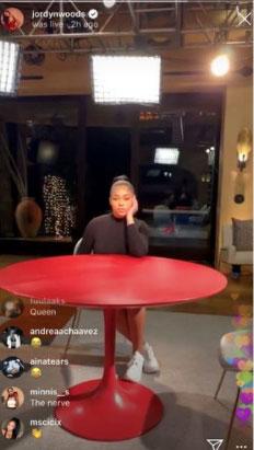 Jordyn Woods en 'Red Table Talk'