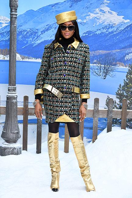 Naomi Campbell en desfile de Chanel