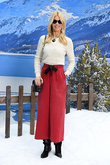 Claudia Schiffer en desfile de Chanel